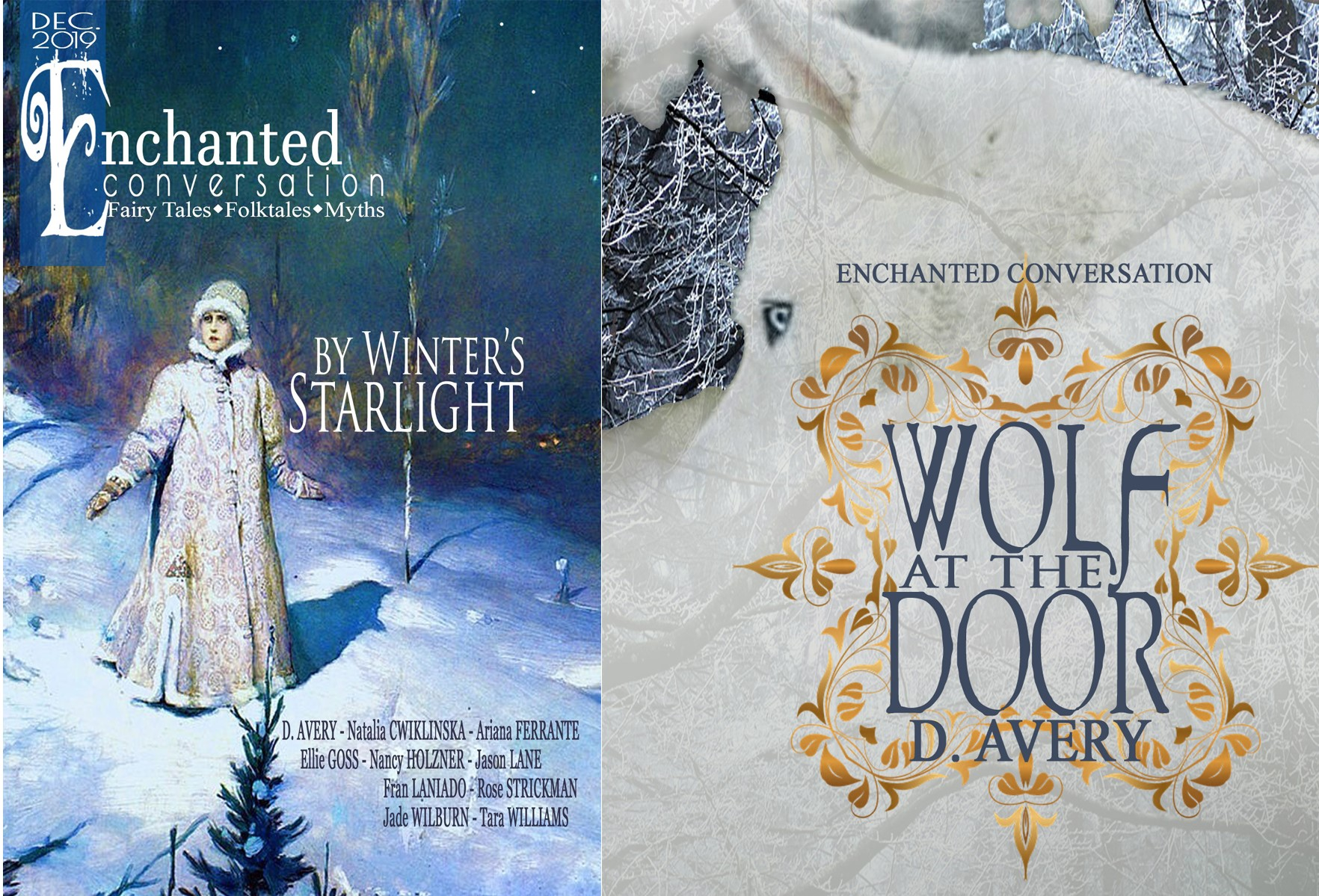By Winter's Starlight-Wolf at the Door-Covers Bergloff
